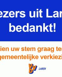 Kiezers uit Laren, bedankt!
